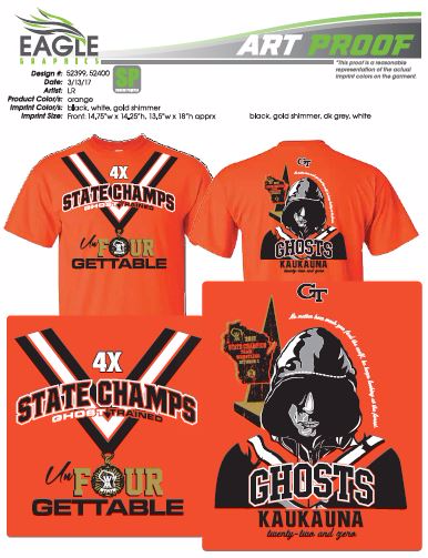 4X State Champs T Shirt